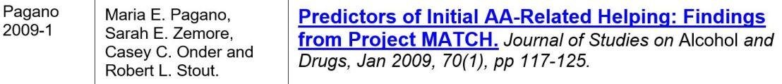pagano 2009-1 predictor pour aider les autres